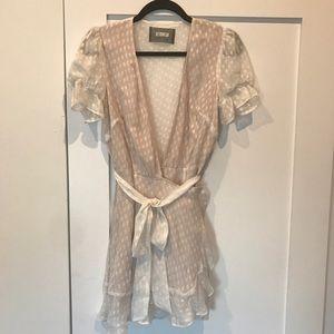 Reformation pretty off white dress, size M